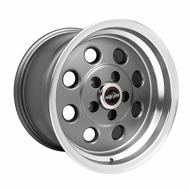 82-510152GP 82 Pro-Lite Metallic Gray with Machined Lip  15x10 5x4.50BC 6.25BS