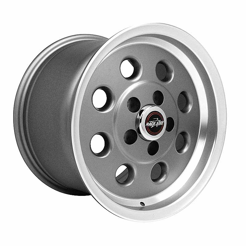 82-510154GP 82 Pro-Lite Metallic Gray with Machined Lip  15x10 5x4.50BC 7.25BS