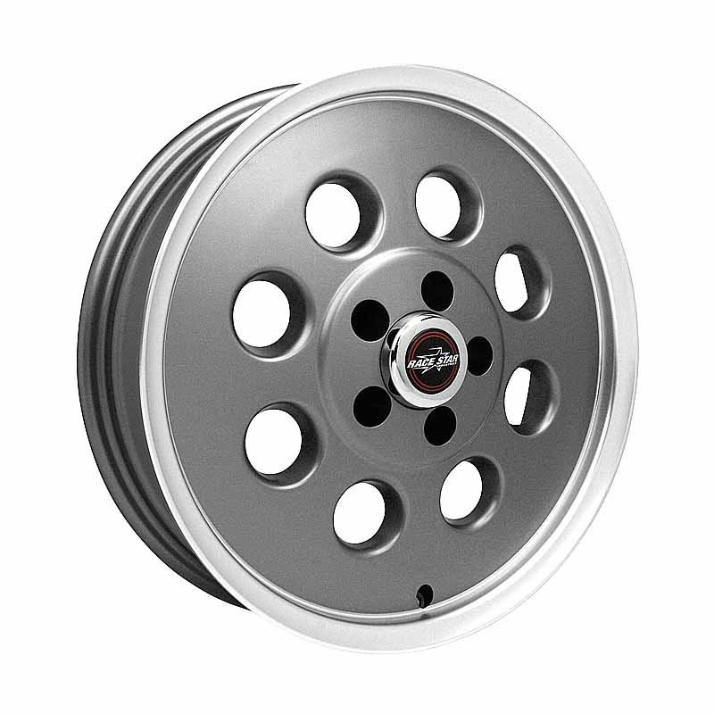 82-745142GP 82 Pro-Lite Metallic Gray with Machined Lip  17x4.5 5x4.50BC 1.75BS