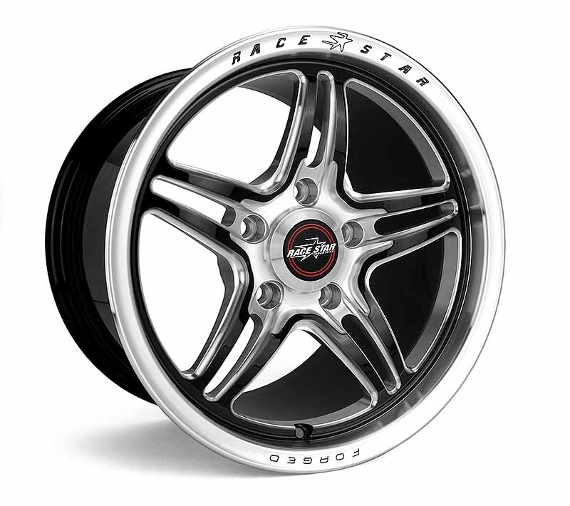 01-510154MB RSF-1 Forged One Piece Polished with Black Accent 15x10 5x4.50BC 7.25BS