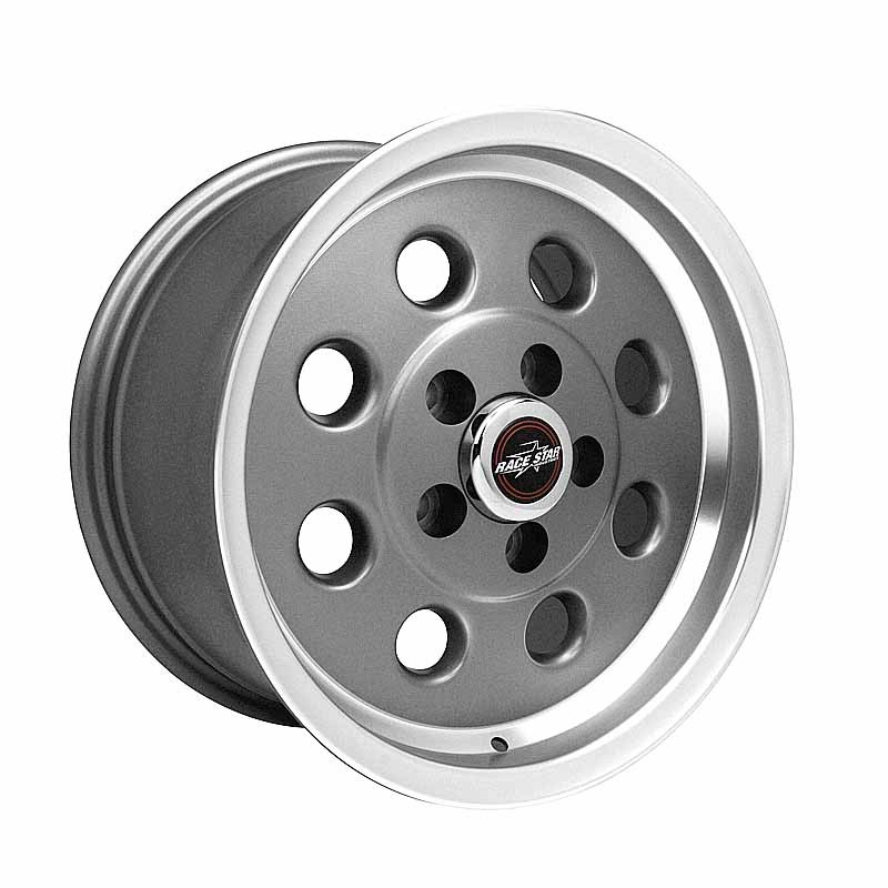 82-580150GP 82 Pro-Lite Metallic Gray with Machined Lip  15x8 5x4.50BC 5.50BS
